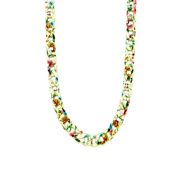 Retro Garden Chain Necklace - Sunny