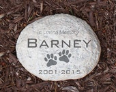 Engraved Pet Memorial Garden Stone Personalized In Loving Memory Sympathy Gift Dog Cat