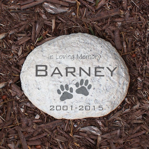 engraved pet memorial garden stone personalized in loving