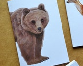 Bear Notebook - Woodland Animal - Brown Bear - A6 - Eco and Recycled - Compact Notebook