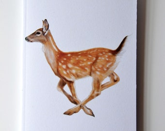 Deer Notebook, Woodland Notebook, Fallow Deer, Eco and Recycled