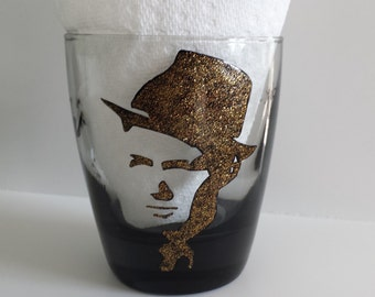 One frank sinatra inspired hand painted glass fathers day wedding