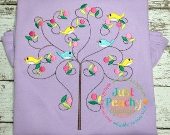 Spring Swirly Tree Machine Embroidery Applique Design Buy 2 for 4! Use Coupon Code 50OFF