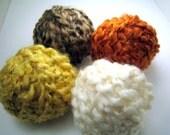 Yarn sampler balls, Fall colors, Lion Brand Homespun, 4 balls, 10 yards each