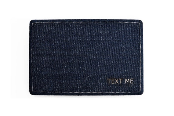 TEXT ME Denim Postcard - Handmade Greeting Cards from Salvaged Denim