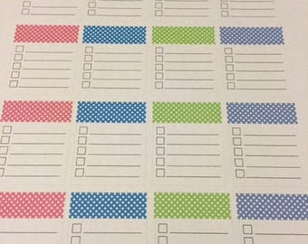 Polka dot lined box planner stickers for your Erin Condren Planner