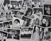 20 Vintage photos, old black and white wedding photographs, paper art DIY KIT, paper ephemera, Mixed Media supply lot, scrapbooking kit, PK1