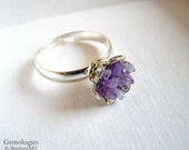 Raw Amethyst Ring, Natural Stone Jewelry for Her, Trending on Etsy, Anniversary for Wife, Girlfriend Gift, Daughters Birthday, Graduation