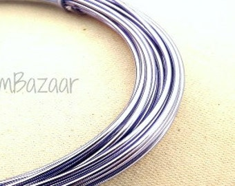 Aluminum wire for jewelry and crafts, 2mm 12 gauge round, lilac, 39 foot coil