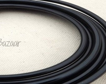 Aluminum wire for jewelry and crafts, 6 gauge round , black, Omega wire