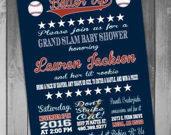 Baseball Baby Shower Invitation Printable Baby Shower Couples Baby Couples Shower Coed Baby Boy Baby Shower Baby Boy Coed Shower