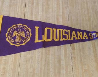 Louisiana State University LSU Vintage Felt Pennant 28 inches