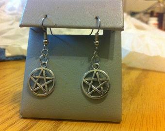 Pentagram earrings