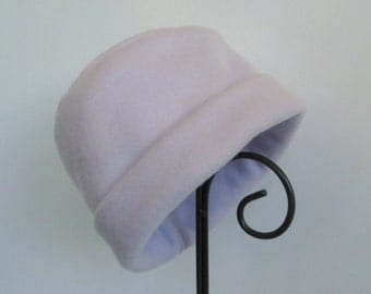 Lavender Fleece Hat, Purple Hat, Fleece Hat, Roll Brim Hat, Soft and Warm Hat
