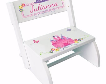 Personalized Princess STEP Stool Custom White Stepping Stools Folding Bench Girls Pink Princess Castle Frozen Disney  sc 1 st  Etsy & Disney princess gift | Etsy islam-shia.org