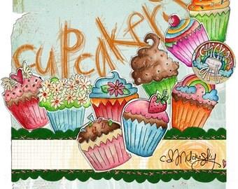 Cupcakery Printables
