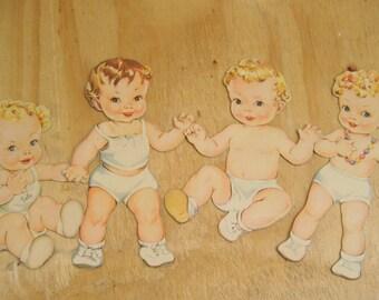 Vintage paper dolls babies