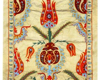 Hand Embroidered Uzbek Modern Suzani L1079