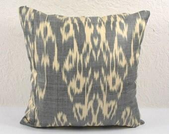 Ikat Pillow, Hand Woven Ikat Pillow Cover  a535-1aa2, Ikat throw pillows, Designer pillows, Decorative pillows, Accent pillows
