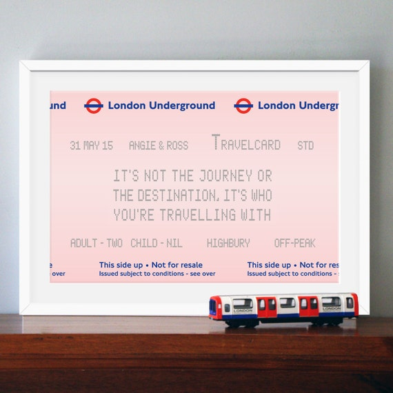 London Print, Personalized Print, Travel Quote, London, Wedding Gift ...
