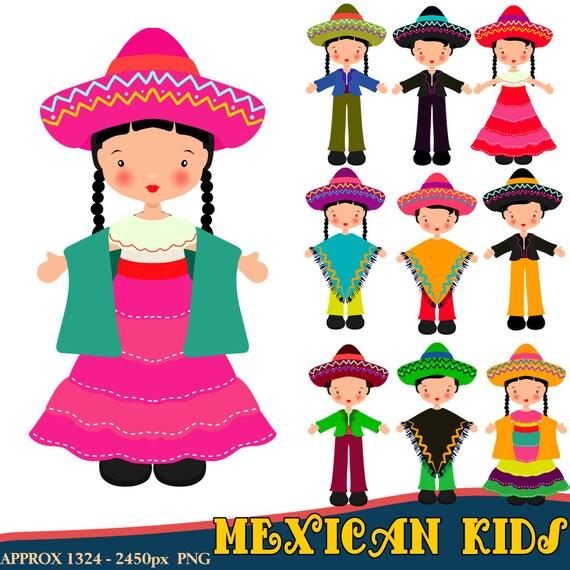 Mexican Clipart Children Clipart Fiesta Clipart Mexican
