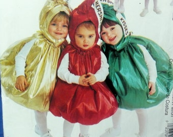McCall's Costumes, Hersheys Kiss P382, 2342, 9484, size 4