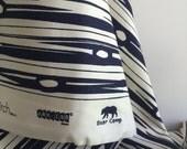ORGANIC CANVAS Bear Bois Fabric  in Dusk from Birch Fabrics - One YARD Cut