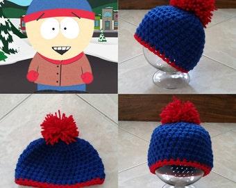 Crochet Stan Beanie/Hat (South Park)