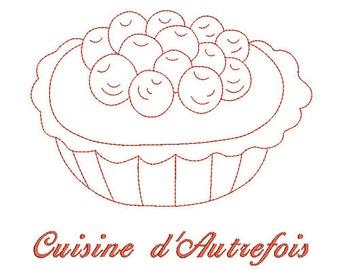 Instant download Cake Pie embroidery design machine.