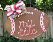 Alabama Football Door Hanger, Roll Tide, College Football, Sports, Football