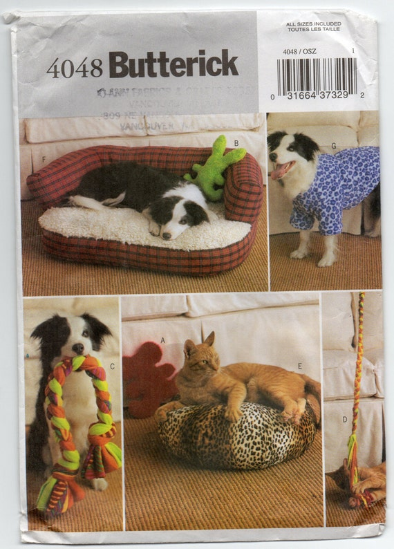 Butterick 4048 Sewing Pattern Pet Accessories Mouse By Rosie247
