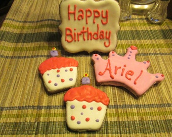 Personalized  Birthday Dog Treats cupcake dog treats with a crown