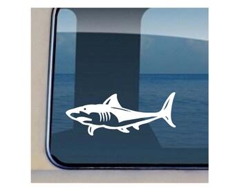 Shark Side Decal Hawaiian Sea Life Sticker 48