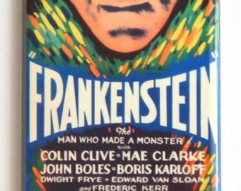 Frankenstein (1931) Movie Poster Fridge Magnet (1.5 x 4.5 inches)