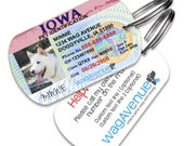 Iowa Driver's License Pet Tag - Personalized Pet Tags, Custom Pet Tags, Dog ID Tags, Cat ID Tags, Dog Tags for Dogs, Dog License Tags