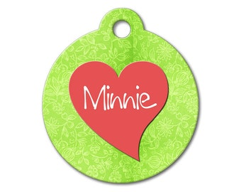 Cute Dog Tag - Heartiful - Personalized Pet Tags, Custom Pet Tags, Dog ID Tags, Cat ID Tags, Dog Tags for Dogs, Stainless Steel ID Tag