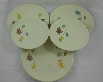 Mid Century Franciscan China Autumn 2 B&B 3 Salad Plates