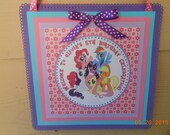 Little Pony Door Sign-Little Pony Door Sign-Little Pony Birthday Sign-Little Pony Party Decoration-Little Pony Birthday Decoration-Girl's
