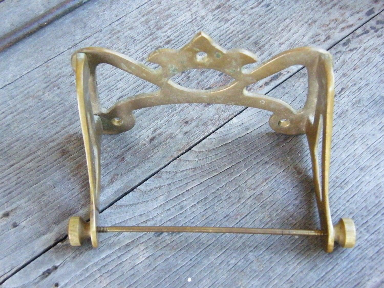 Vintage Brass Toilet Tissue Holder