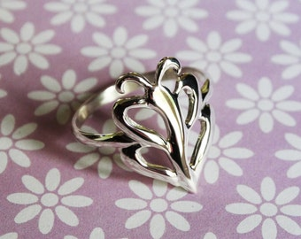 SALE Fly Away Ring Silver Butterfly Ring Silver Moth Ring - Sterling Silver (925)