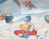Daisy Kingdom Fabric Bundle for Baby Bears with Balloons Nursery Print 100% Cotton New 3 Pieces