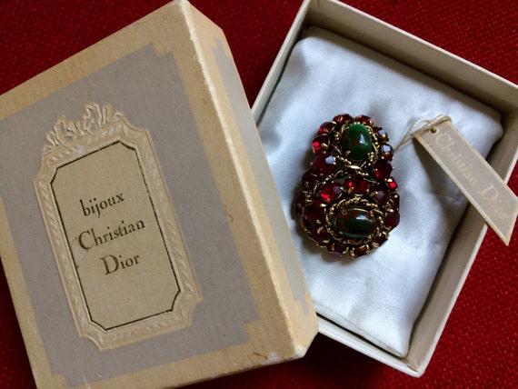 Bijoux Vintage Dior : Vintage christian dior bijoux c pin brooch in