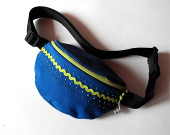 SALE*** 50% OFF in June*** fanny pack/hip bag - blue and green (normal size)