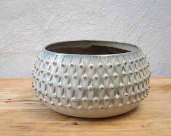Stoneware Large Spiky Pot