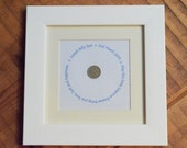 Sixpence Baby Gift - Framed and Personalised Good Luck Print. Suitable as a New Baby Gift, Christening, Baptism or Baby Naming.