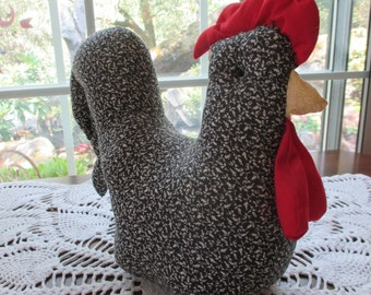 Vintage Stuffed Fabric Chicken - Shelf Sitter