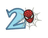 Applique Spiderman Embroidery Design, Applique Number (240) Instant Download