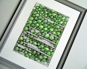 Princess and the pea illustration print