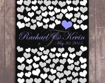 BRIDAL WEDDING GUEST Poster 100 Guest Sign In 20x24 Unique Wedding Guest Book_04