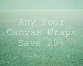 Custom Four Canvas Set, Nature Canvas Art Set, Canvas Photography, Set of 4 Canvas Wrap, Wall Art Collection, Gallery Wrap Canvas Set